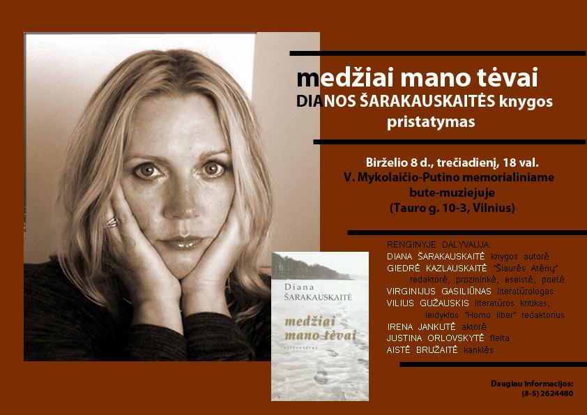 Nuotraukoje- knygos autorė Diana Šarakauskaitė